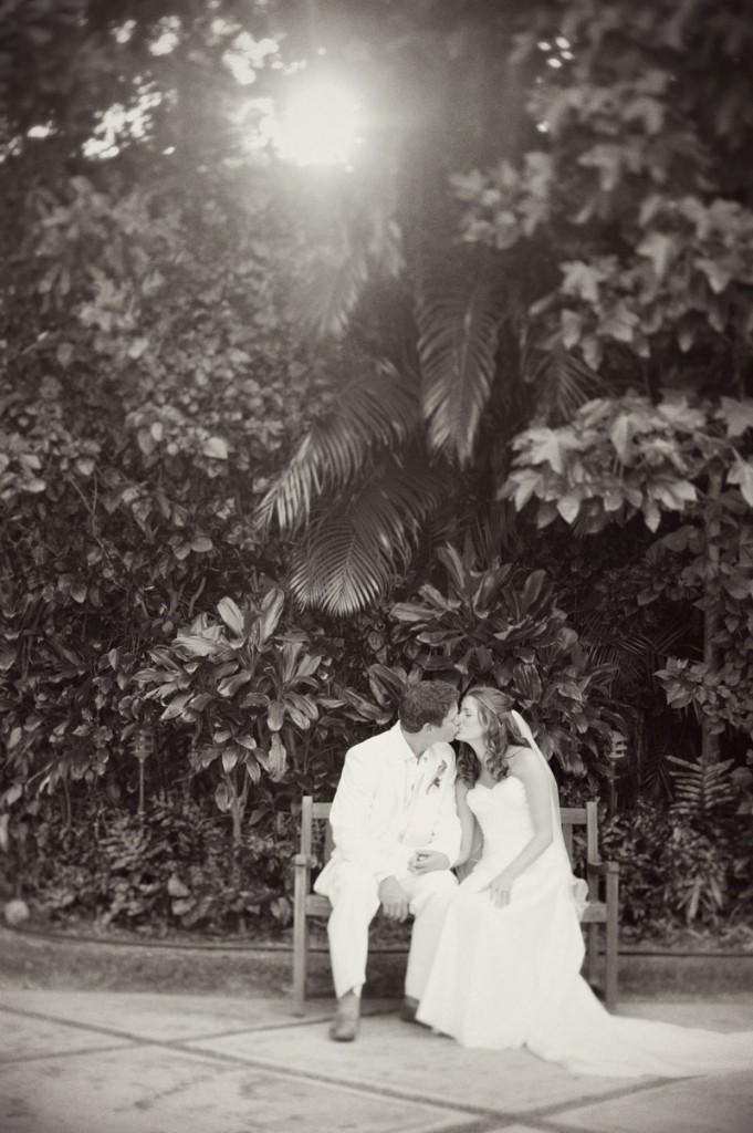 Wedding couple kiss for a Hawaii destination wedding on Style Me Pretty by Destination wedding planner, Mango Muse Events