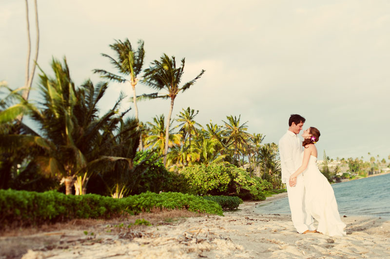 Beach wedding for a Hawaii destination wedding on Style Me Pretty by Destination wedding planner, Mango Muse Events
