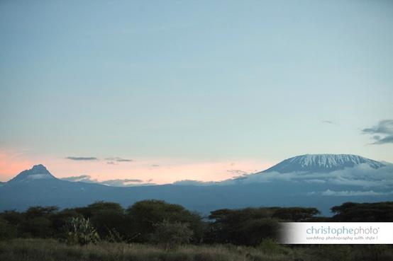 Mount Kilimanjaro in Kenya for a Kenya destination wedding shared by Destination wedding planner, Mango Muse Events