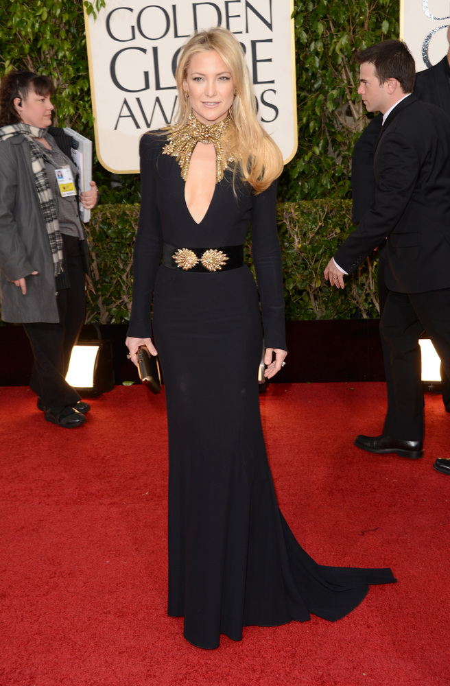 Kate Hudson on the red carpet at the 2013 Golden Globes wedding inspiration by Destination wedding planner Mango Muse Events