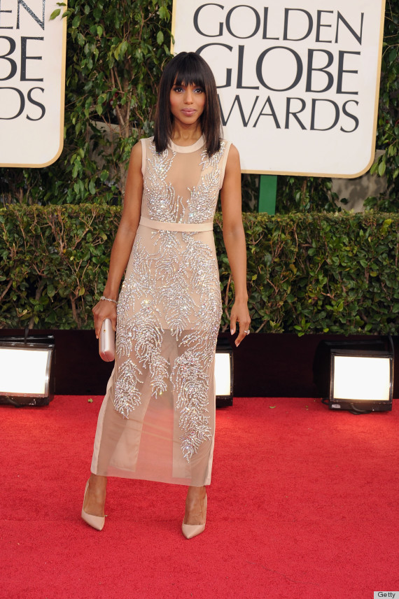 Kerry Washington on the red carpet at the 2013 Golden Globes wedding inspiration by Destination wedding planner Mango Muse Events