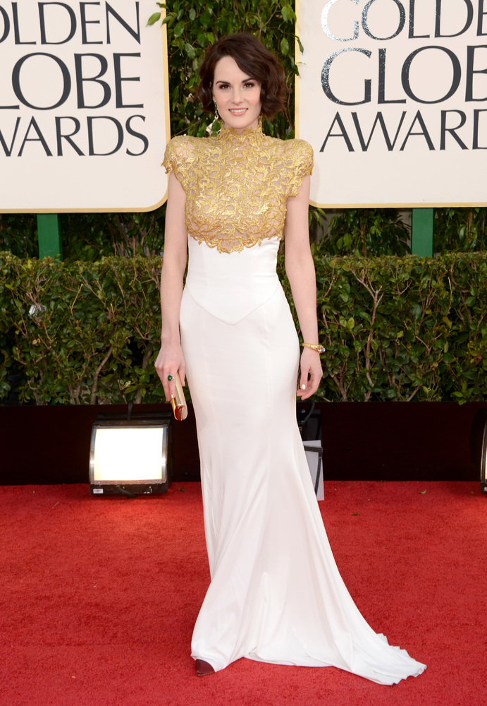 Michelle Dockery on the red carpet at the 2013 Golden Globes wedding inspiration by Destination wedding planner Mango Muse Events