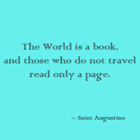 The world is a book inspirational quote