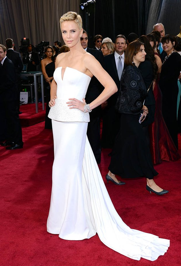 Charlize Theron on the red carpet 2013 Oscars wedding fashion inspiration picked by Destination wedding planner Mango Muse Events