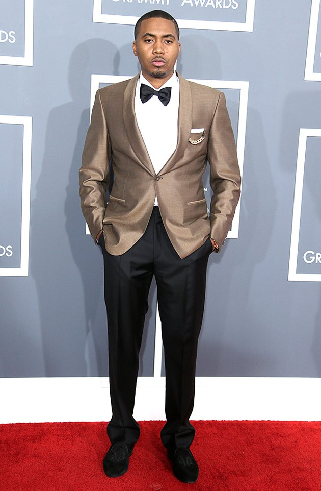Nas on the red carpet at the 2013 Grammys wedding fashion inspiration picked by Destination wedding planner Mango Muse Events