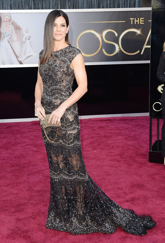 Sandra Bullock on the red carpet 2013 Oscars wedding fashion inspiration picked by Destination wedding planner Mango Muse Events