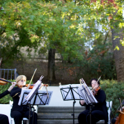 Ceremony String Quartet Musicians Wedding Vendors at a Vineyard Wedding by Destination wedding planner Mango Muse Events