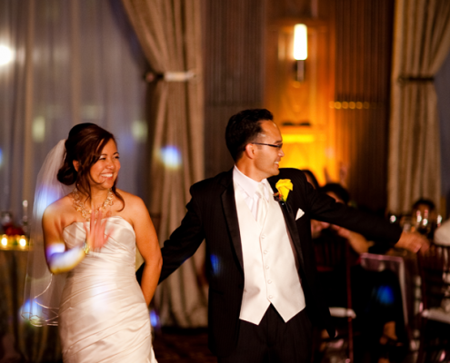 Wedding couple on the dance floor at their non-Saturday wedding in San Francisco by Destination wedding planner Mango Muse Events