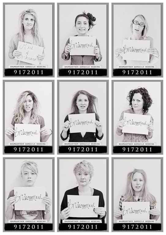 Bridesmaid mugshots fun wedding photography idea shared by Destination wedding planner Mango Muse Events