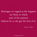 Happiest marriages love quote