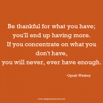Oprah Winfrey thankful inspirational quote