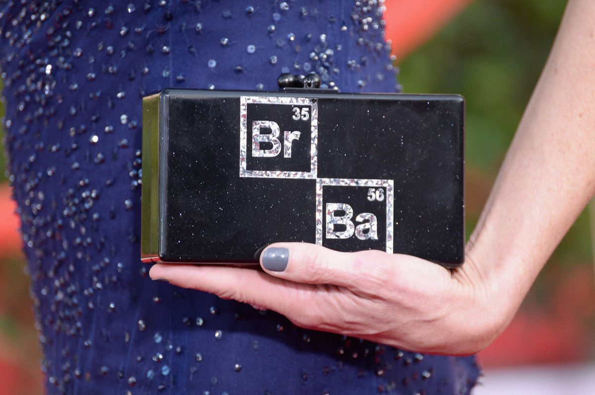 Anna Gunn Breaking Bad clutch on the red carpet 2014 SAG Awards wedding inspiration by Destination wedding planner Mango Muse Events