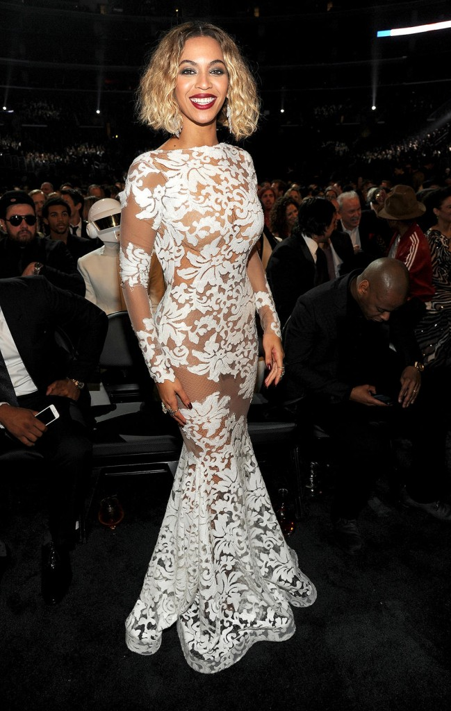 Beyonce at the 2014 Grammy wedding inspiration picks by Destination wedding planner Mango Muse Events