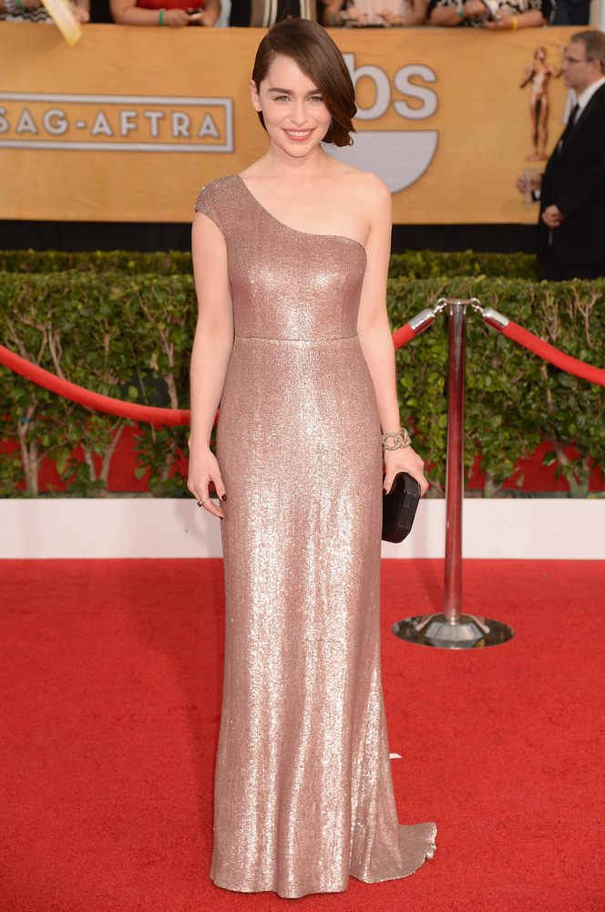 Emilia Clarke on the red carpet 2014 SAG Awards wedding inspiration by Destination wedding planner Mango Muse Events
