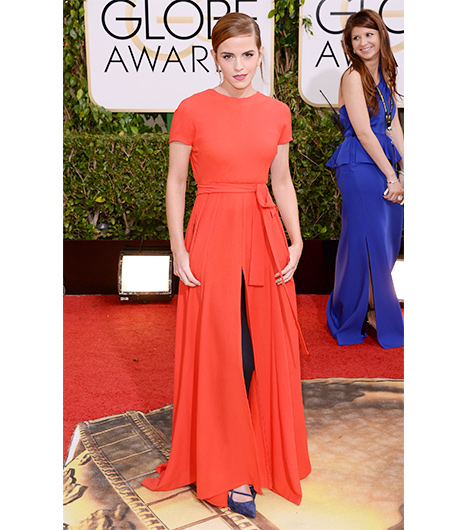 Emma Watson on the red carpet 2014 Golden Globes wedding inspiration picks by Destination wedding planner Mango Muse Events