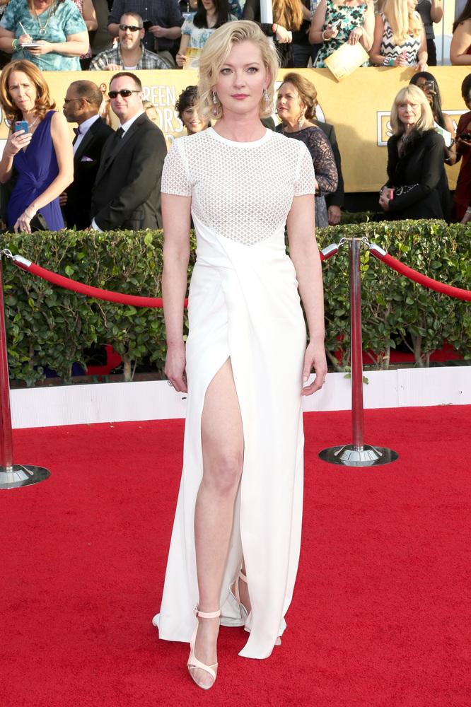 Gretchen Mol on the red carpet 2014 SAG Awards wedding inspiration by Destination wedding planner Mango Muse Events