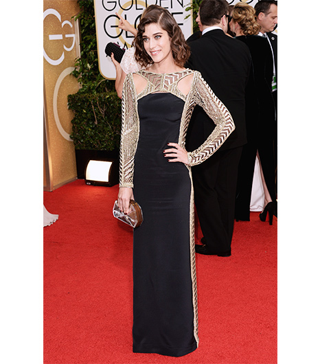 Lizzy Caplan on the red carpet 2014 Golden Globes wedding inspiration picks by Destination wedding planner Mango Muse Events
