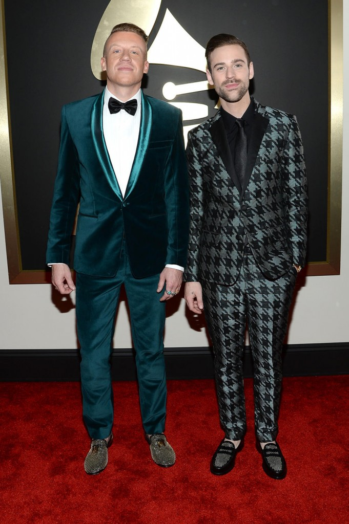 Macklemore and Ryan Lewis on the red carpet 2014 Grammy wedding inspiration picks by Destination wedding planner Mango Muse Events