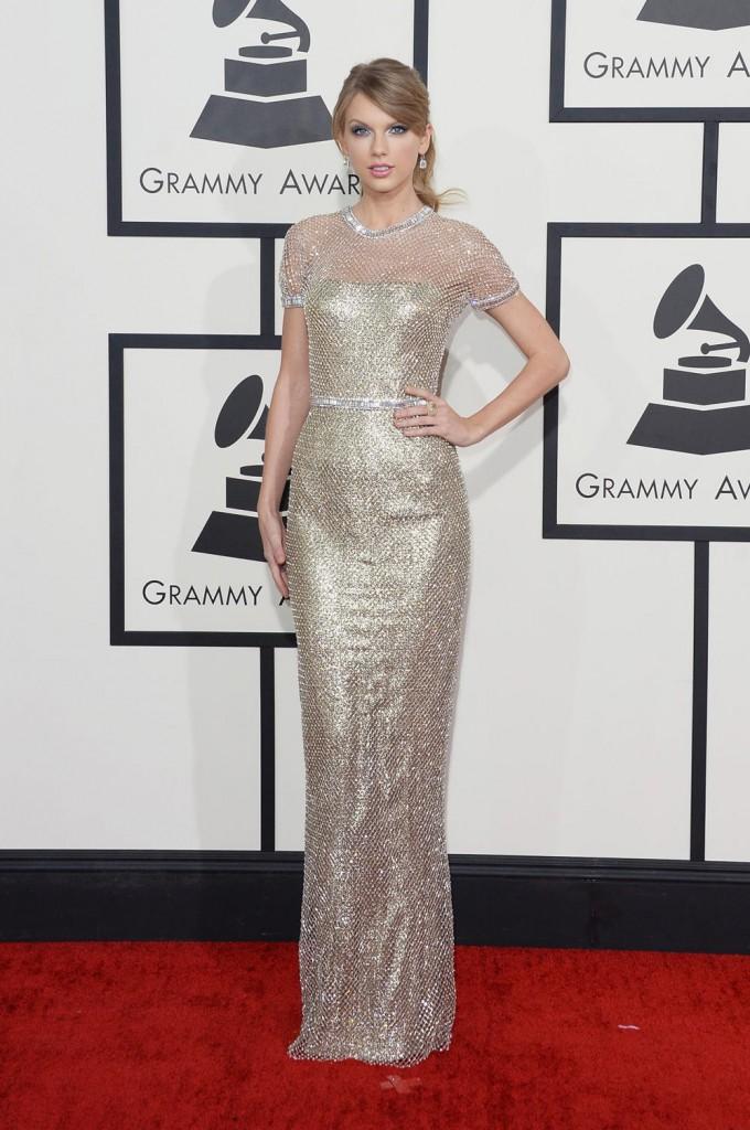Taylor Swift on the red carpet 2014 Grammy wedding inspiration picks by Destination wedding planner Mango Muse Events