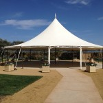 Wedding tent at Cornerstone destination wedding venue in Sonoma. Photo taken by Jamie Chang destination wedding planner of Mango Muse Events.