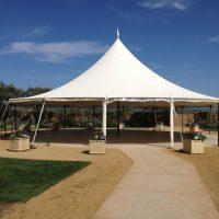 Wedding tent at Cornerstone destination wedding venue in Sonoma. Photo taken by Jamie Chang destination wedding planner of Mango Muse Events.