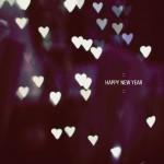 Happy New Year Heart Bokeh