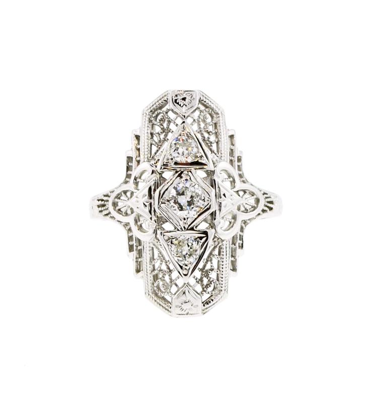 Edwardian wedding ring by Mabel Chong