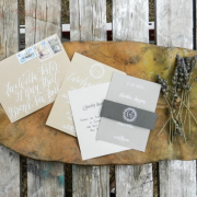 Handwritten wedding invitations by the Postman's Knock