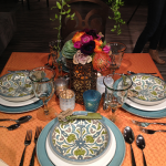 Global Bohemian wedding table design by Jamie Chang destination wedding planner of Mango Muse Events for Pottery Barn's Have and Hold blog party