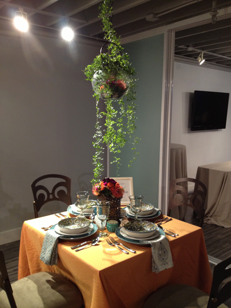 Global bohemian wedding table design created by Jamie Chang destination wedding planner of Mango Muse Events for Pottery Barn