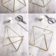 Geometric DIY project for a wedding or event
