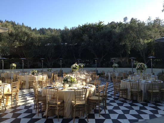 Catelli's event venue outdoor reception area in Geyserville