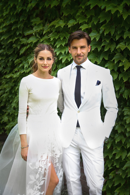 Bride, Olivia Palermo wearing an alternative wedding gown.