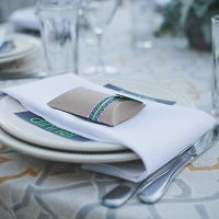 Wedding reception table setting designed by destination wedding planner Jamie Chang of Mango Muse Events.