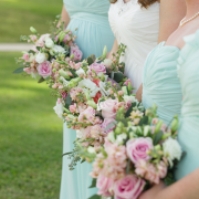 Bridesmaids and a bride at a Caribbean destination wedding by Destination wedding planner, Mango Muse Events