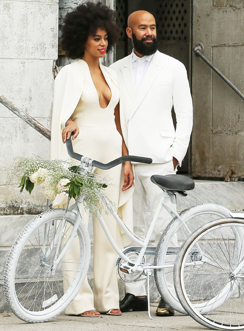 Solange Knowles and Alan Ferguson dressed white for their white wedding in New Orleans.