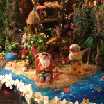 Christmas gingerbread house on display at the Sheraton Seattle Hotel.