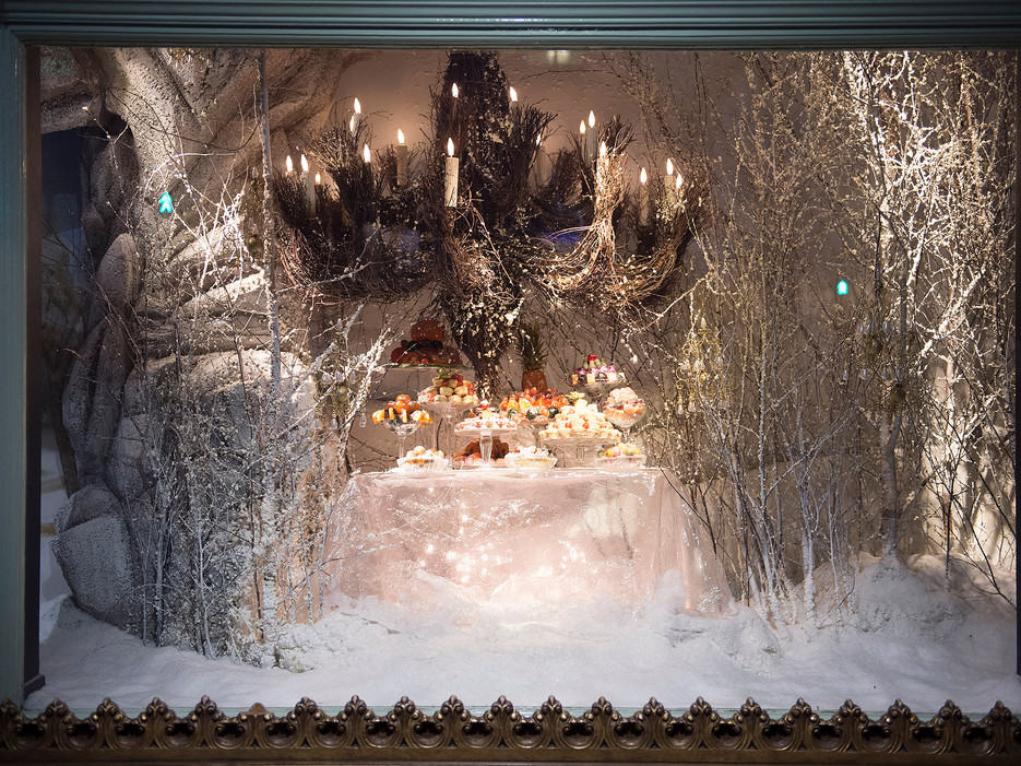 2014 Christmas window displays at Fortnum & Mason in London.