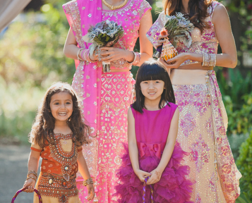 Small wedding party at an Indian Chinese Wedding Ceremony planned by Destination wedding planner Mango Muse Events