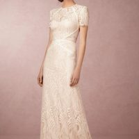 Woman in BHLDN Beilin Wedding gown.