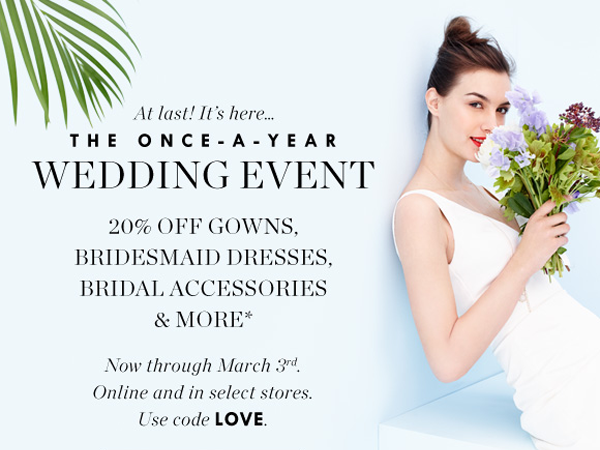 Wedding dress sale at JCrew.