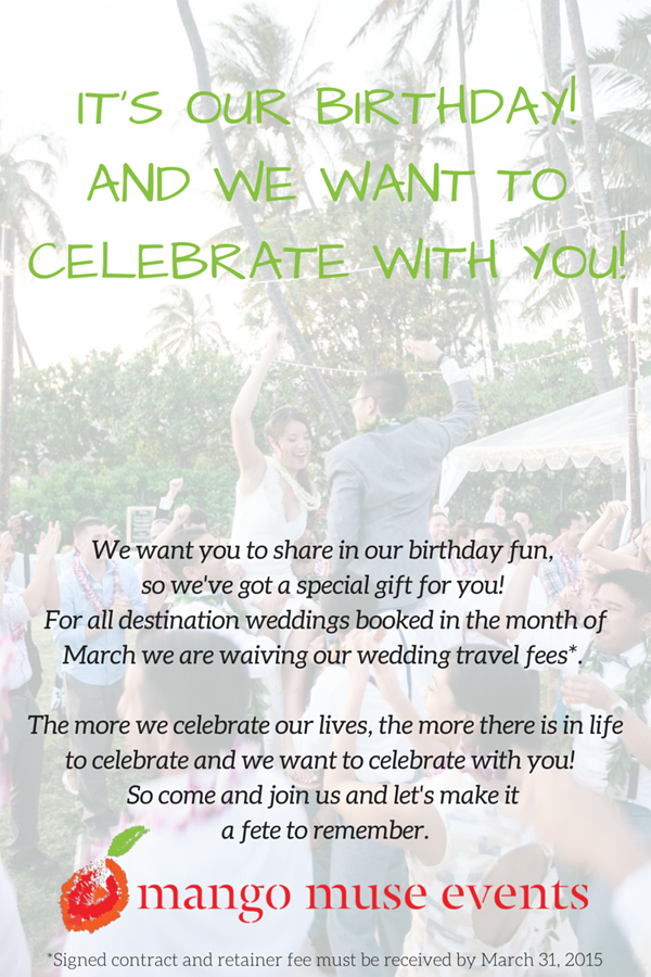 It's our birthday and we want to celebrate with you!