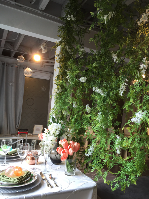 Spring vine garden backdrop for Easter Wedding decor idea. Event design by Jamie Chang of Mango Muse Events.
