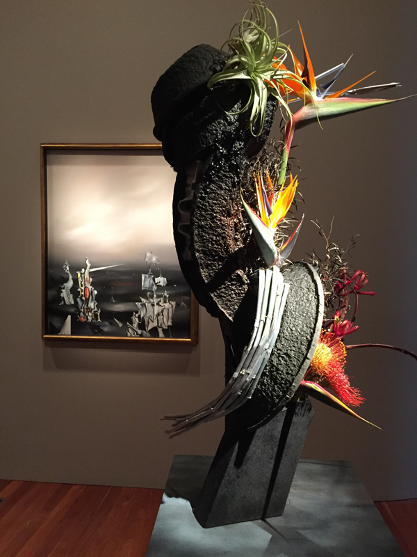 Dali Bird of Paradise Floral Interpretation at Bouquets to Arts 2015, de Young Museum, San Francisco.