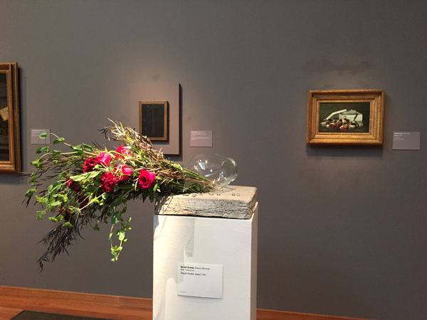 Floral art pieces at Bouquets to Art 2015 at the de Young Museum, San Francisco.