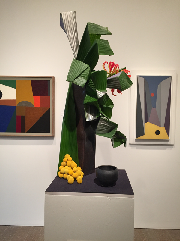 Floral shapes of cubist painting at Bouquets to Art 2015, de Young Museum, San Francisco.