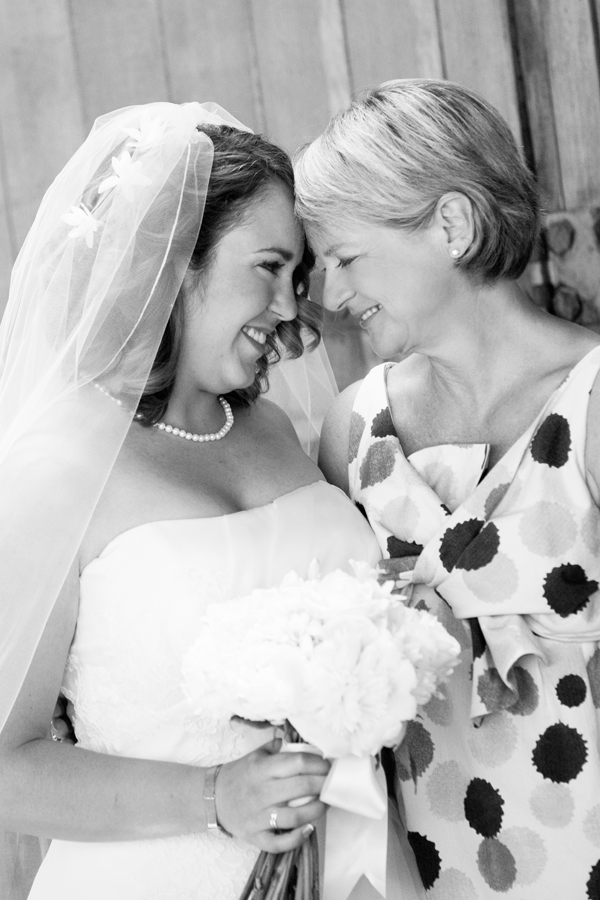 Bride and mother at destination wedding in Healdsburg by Jamie Chang destination wedding planner of Mango Muse Events.