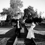 Newlywed couple at destination wedding in Geyserville by Jamie Chang destination wedding planner of Mango Muse Events.