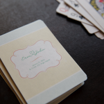 Personalized welcome gifts for a destination wedding: playing cards.