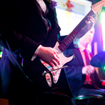 Rock Band video game at a customized wedding. Event design by Jamie Chang of Mango Muse Events.